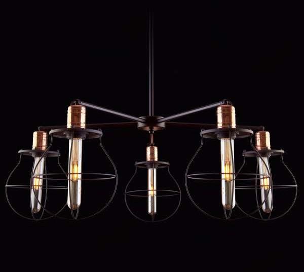 Nowodvorski Żyrandol LAMPA wisząca MANUFACTURE 9738 industrialna OPRAWA druciany ZWIS metalowy loft czarny