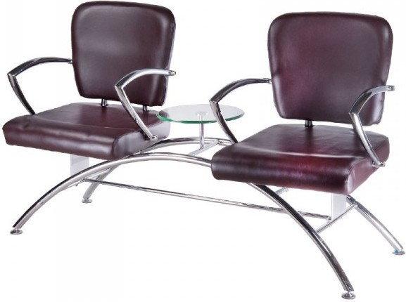 Opinie o Vanity Krzesło do poczekalni ZE STOLIKIEM LIVIO CZEKOLADOWE