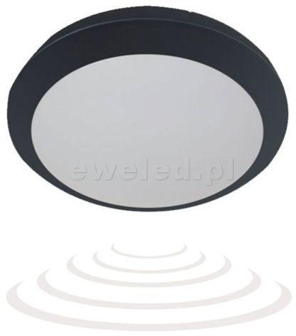 Orno BRYZA ECO Plafon LED z czujnikiem mikrofalowym Czarny OR-PL-363BLPMM4