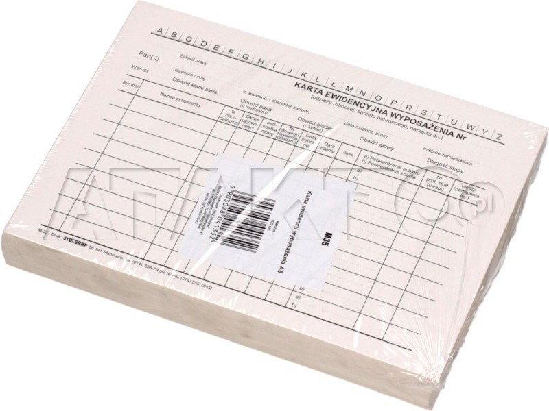 Opinie o Stolgraf Karta ewidencji wyposażenia A5 M35 (100) SG5021