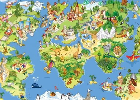 Komar Mapa Świata dla Dziecka - fototapeta