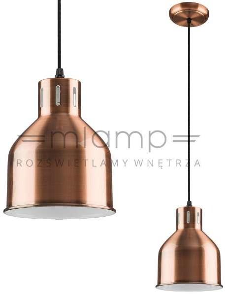 Nowodvorski Miedziana LAMPA wisząca PETRA 9798 metalowa OPRAWA retro zwis miedziany