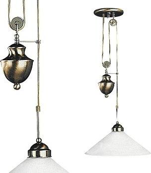 Rabalux Klasyczna LAMPA wisząca ART DECO MARIAN 2706 IP20 Patyna biały
