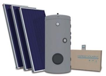 Opinie o Galmet kolektory słoneczne płaskie do cwu - 3 kolektory, 300 litrów zbiornik
