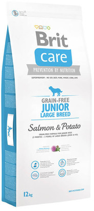 Brit Care Grain-Free Junior Large Breed Salmon&Potato 12 kg