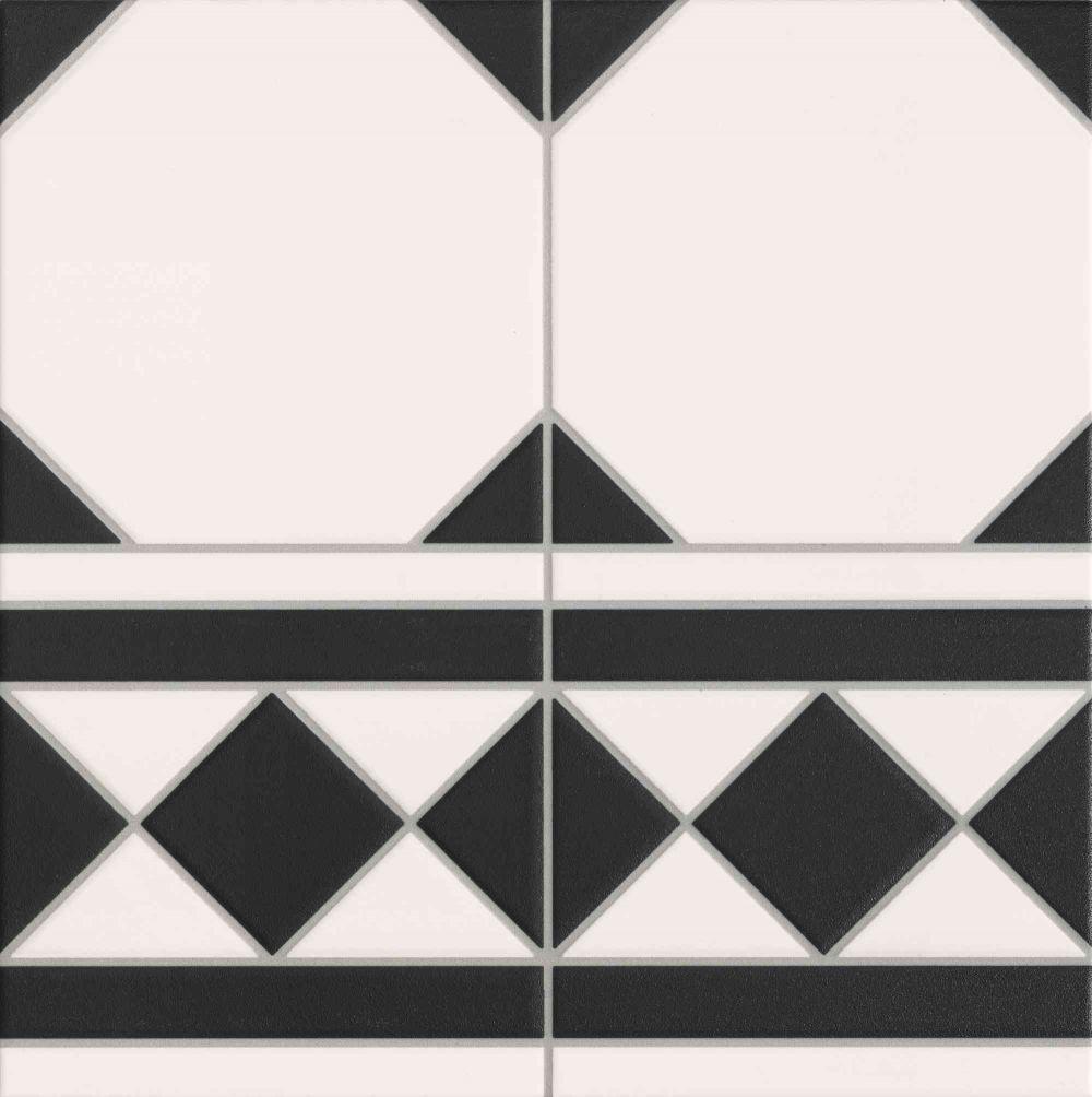 Realonda Oxford Negro Cenefa 33x33