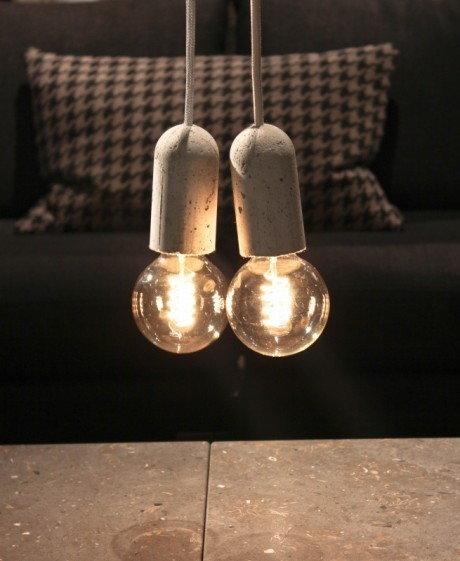 NUD Collection Lampa Nud Base Szary Betonowa ctt06