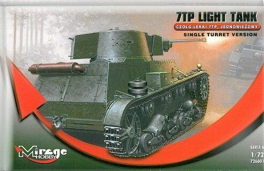 Mirage Hobby 726001 Czołg lekki 7TP, jednowieżowy
