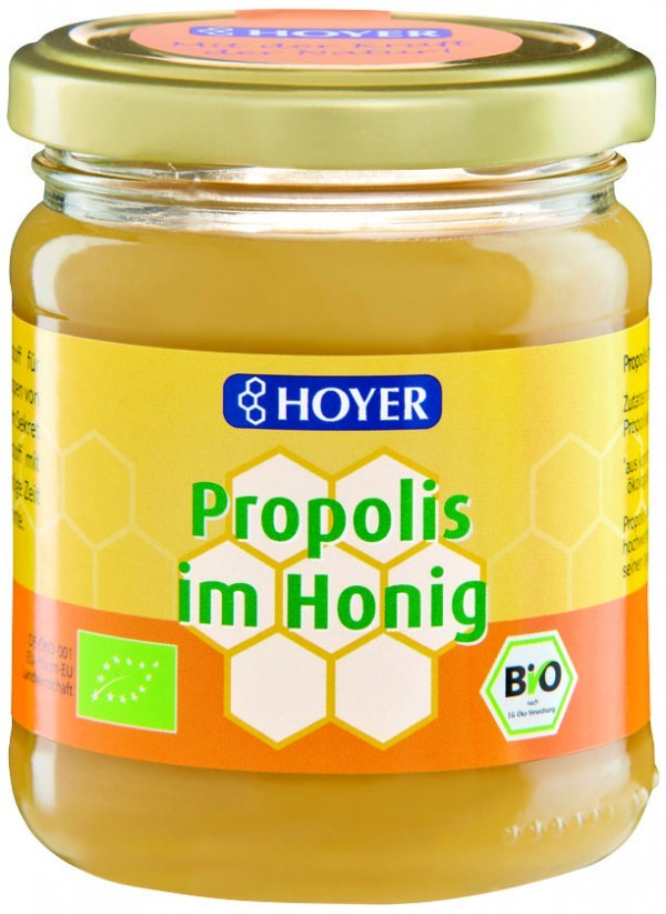 top Hoyer MIÓD Z PROPOLISEM BIO 250 g