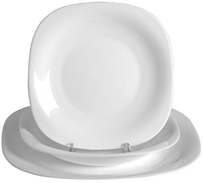 Dajar 05763 Carine komplet obiadowy, 18 elementów, kolor biały 05763