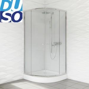 Duso DS401T 80x80 profil chrom szkło transparentne