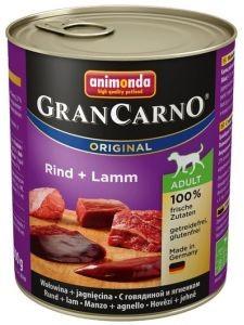 Animonda Grancarno Adult Rind Lamm Wołowina + Jagnięcina 800G