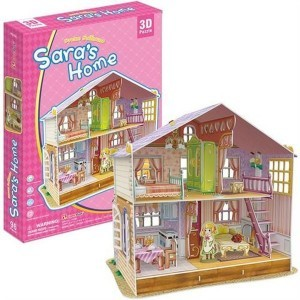 Cubicfun PUZZLE 3D Domek dla lalek Sara 491972