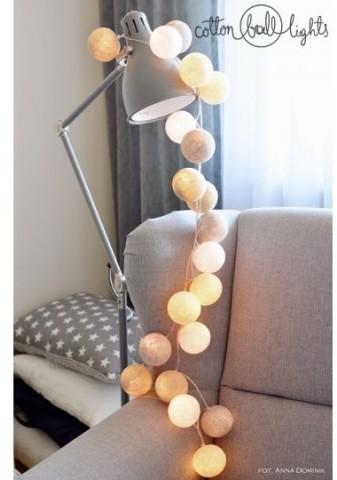 Cotton Ball Lights Kolorowe kulki kompozycja - Pretty Pleasure