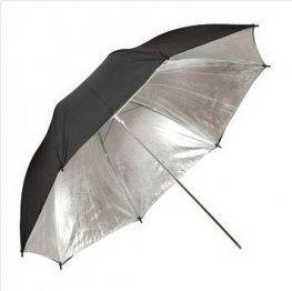 Opinie o Parasolka srebrno-czarna 102cm