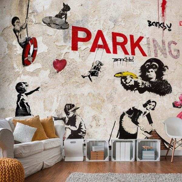 Artgeist Fototapeta - Kolaż graffiti (Banksy) A0-2XLFT584