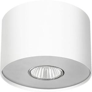 Nowodvorski Spot plafon Lampa natynkowa Point S 1X35W GU10 biały Srebrny/ biały (6000)