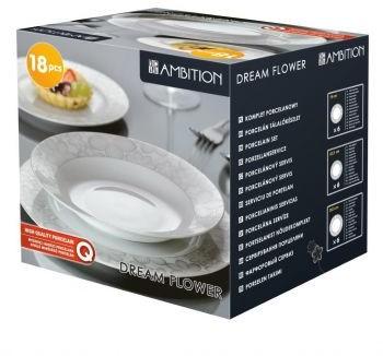 Ambition Komplet obiadowy Dream Flower silver 18-elementowy (63143)