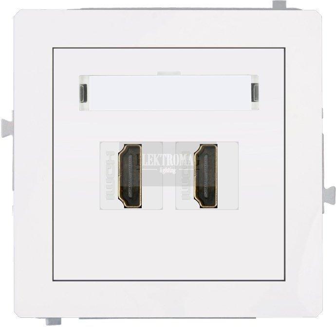 Karlik Deco Gniazdo HDMI x2 DHDMI-2
