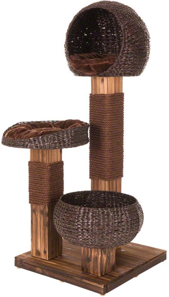 Zooplus Burned Wood drapak dla kota Dł x szer x wys. 58 x 58 x 139 cm