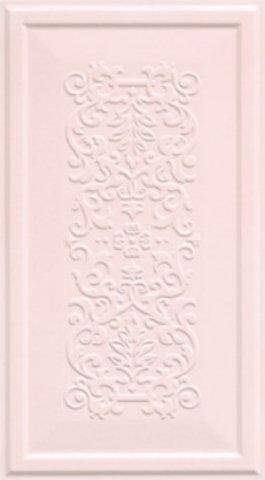 Ascot Ceramiche England Dekor 33x60 Różowy Boiserie Dec Matowa EG050BD