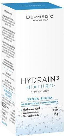 Opinie o Dermedic HYDRAIN 3 Hialuro Krem pod oczy 15ml