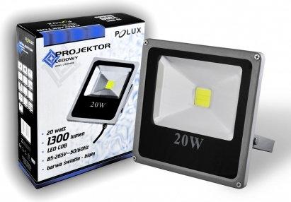 Polux Naświetlacz LED 20W 200W zimna barwa światła, LPP20CWGB COB IP65 302397