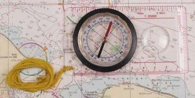 MFH Kompas kartograficzny z linijką 082-034