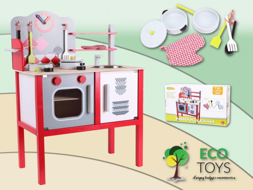 Ecotoys Kuchnia Drewniana Z Wyposazeniem Dla Dzieci 4201 Opinie