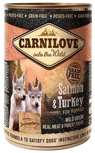 Carnilove Wild Meat Salmon & Turkey Puppy - łosoś i indyk puszka 400g