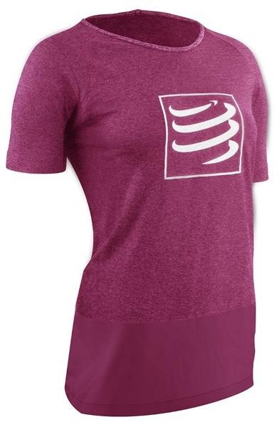 CompresSport Damska koszulka biegowa Training Shirt Różowa