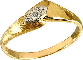 Tyfanit Delikatny pierścionek złoty z cyrkonią ZR135