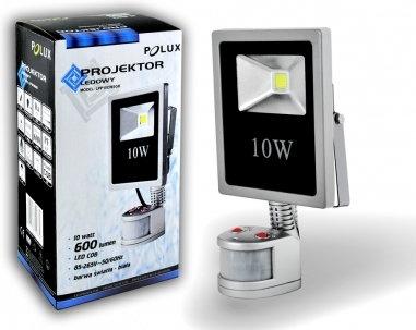 Polux Naświetlacz LED 10W 100W zimna barwa światła, LPP10CWSGB COB IP65/IP54 302 (302380)