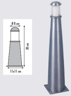 Royal Botania LUCE-FER - cynkowany 30 cm LUF30Z