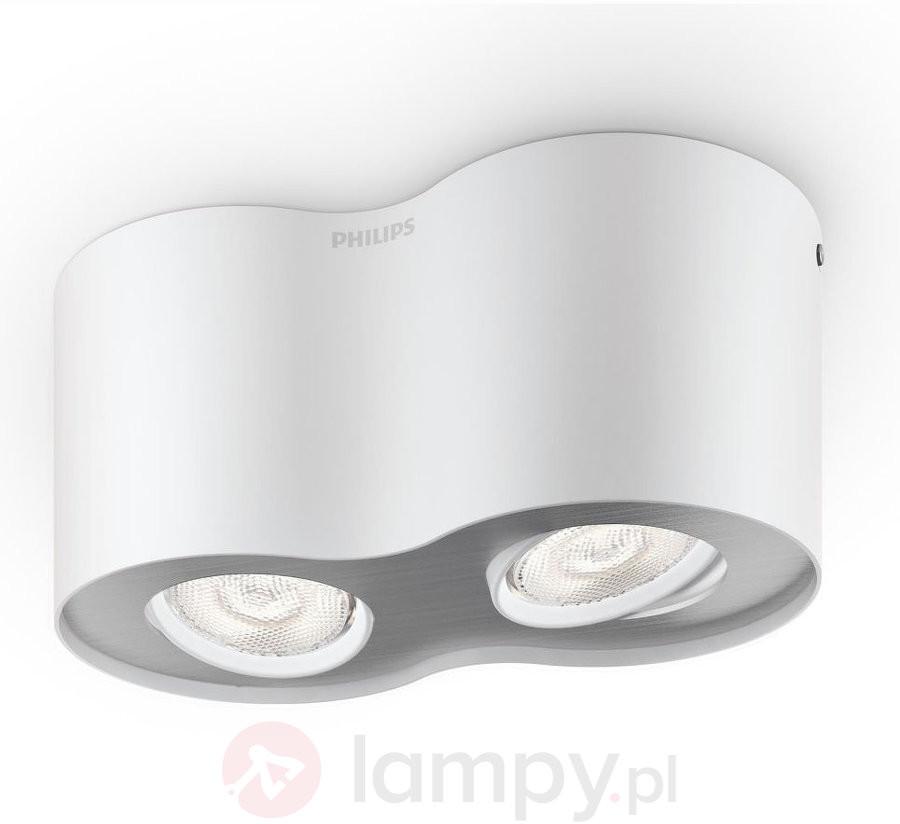 Biały, dwupunktowy spot LED Phase