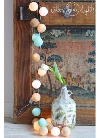 Cotton Ball Lights Kolorowe kulki kompozycja - Playa
