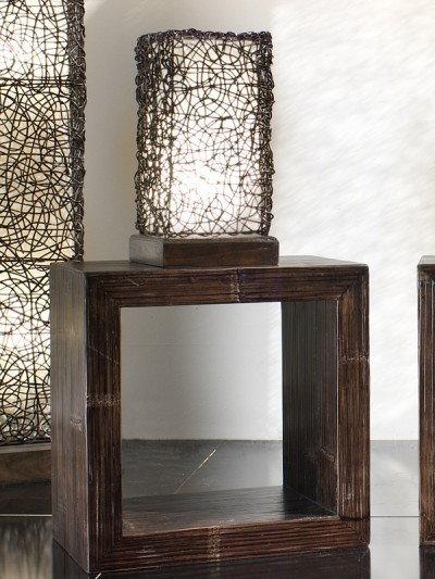 Bortoli Lampa prostokątna z croco-rattanu Croco - 40 cm