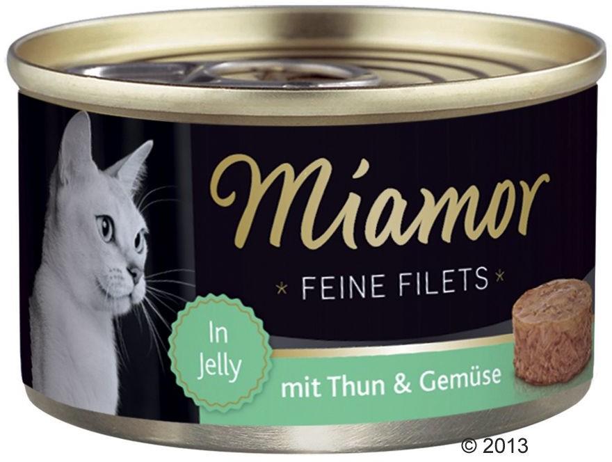Miamor Feine Filets w galarecie, 6 x 100 g - Tuńczyk i jajko przepiórki