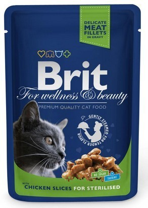 Brit Premium Cat Adult Kurczak Sterilised Saszetka 100G