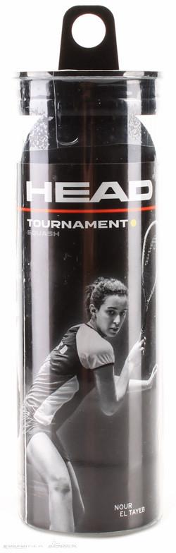 Head Tournament Squash Ball 3-pack