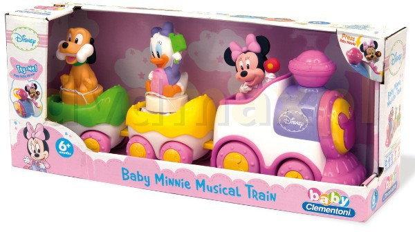 Clementoni Minnie (Myszka Mini) Disney Muzyczny Pociąg [ZABAWKA]