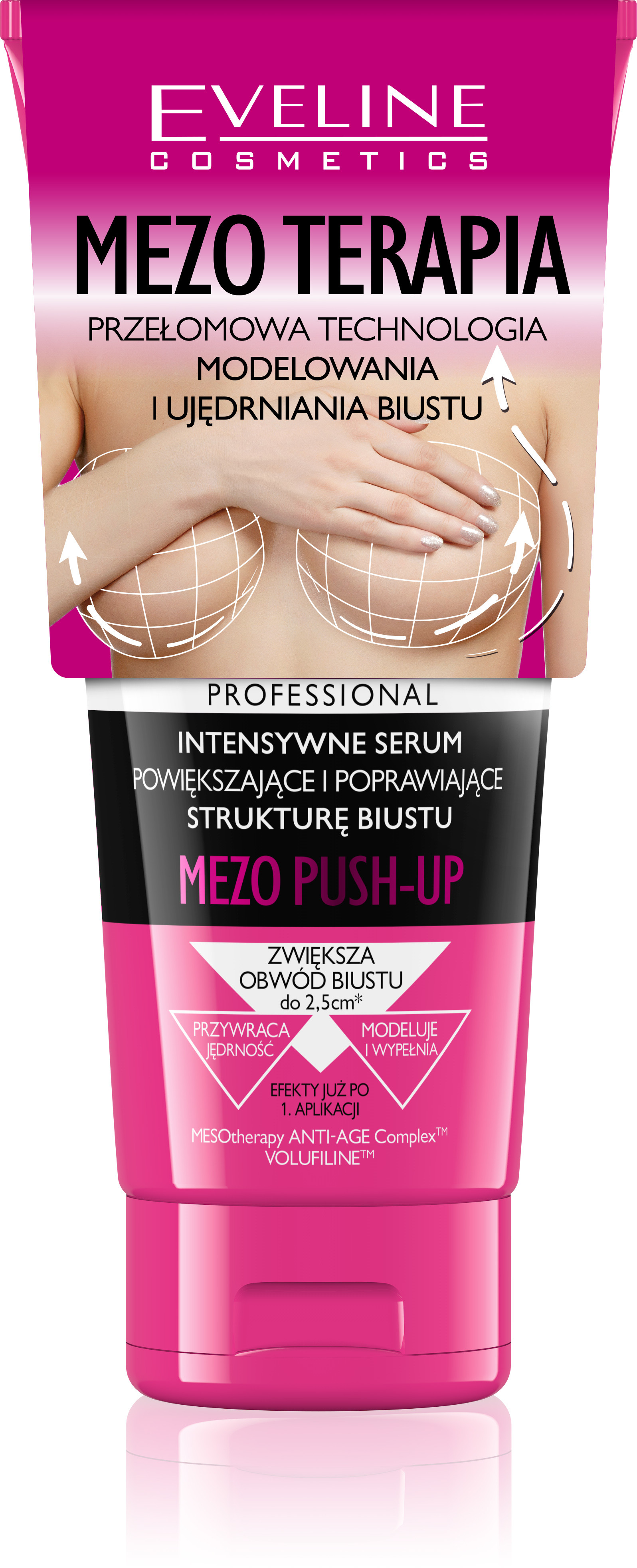 Eveline Dermapharm Slim Extreme 4D Mezo Push-Up serum modelujące do biustu 200 ml