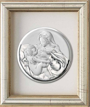 Valenti & Co Obrazek Matka Boska Karmiąca w ramce za szkłem - (v#133)