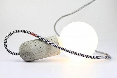 NUD Collection Lampa NUD Base Niebiesko - Szary Betonowa TT-05