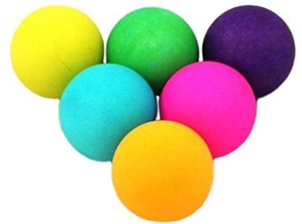 Donic Schildkröt COLOUR POPPS 649015 piłeczki do tenisa stołowego, kolorowe, jeden rozmiar, pakowane po 6 sztuk 649015