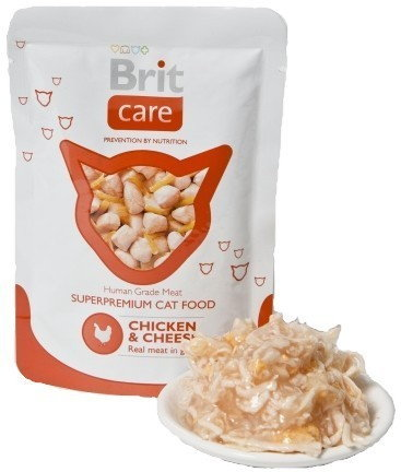 Brit Care Cat Pouch Chicken & Cheese - Kurczak i Ser Saszetka 80g 5136