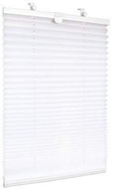 Karnix Roleta Plisowana NEPO BIAŁY : Typ Rolety - Mini Roleta, Stopień Zaciemnienia - Regulowany Dopływ Światła, Kolor Rolety - Biały, Plisy 37x160