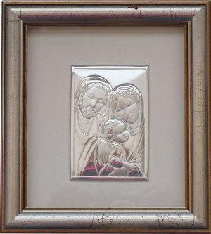 BELCOM Obrazek Święta Rodzina w ramce za szkłem - (BC#6275/2G)