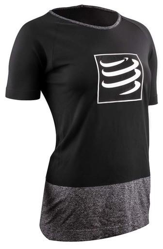 CompresSport Damska koszulka biegowa Training Shirt Czarna