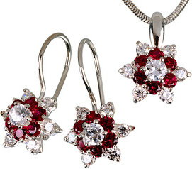 1311a0e8b6701 Swarovski AVORA Piękny komplet biżuterii Biedronki Elements Kolczyki ...